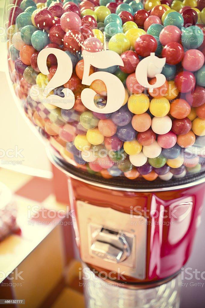 Gum vending machine stock photo