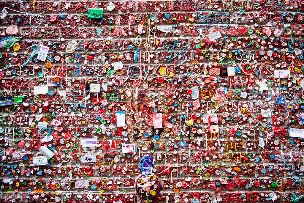 Gum Wall stock photo
