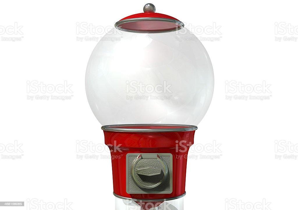 Gumball Dispensing Machine Empty stock photo