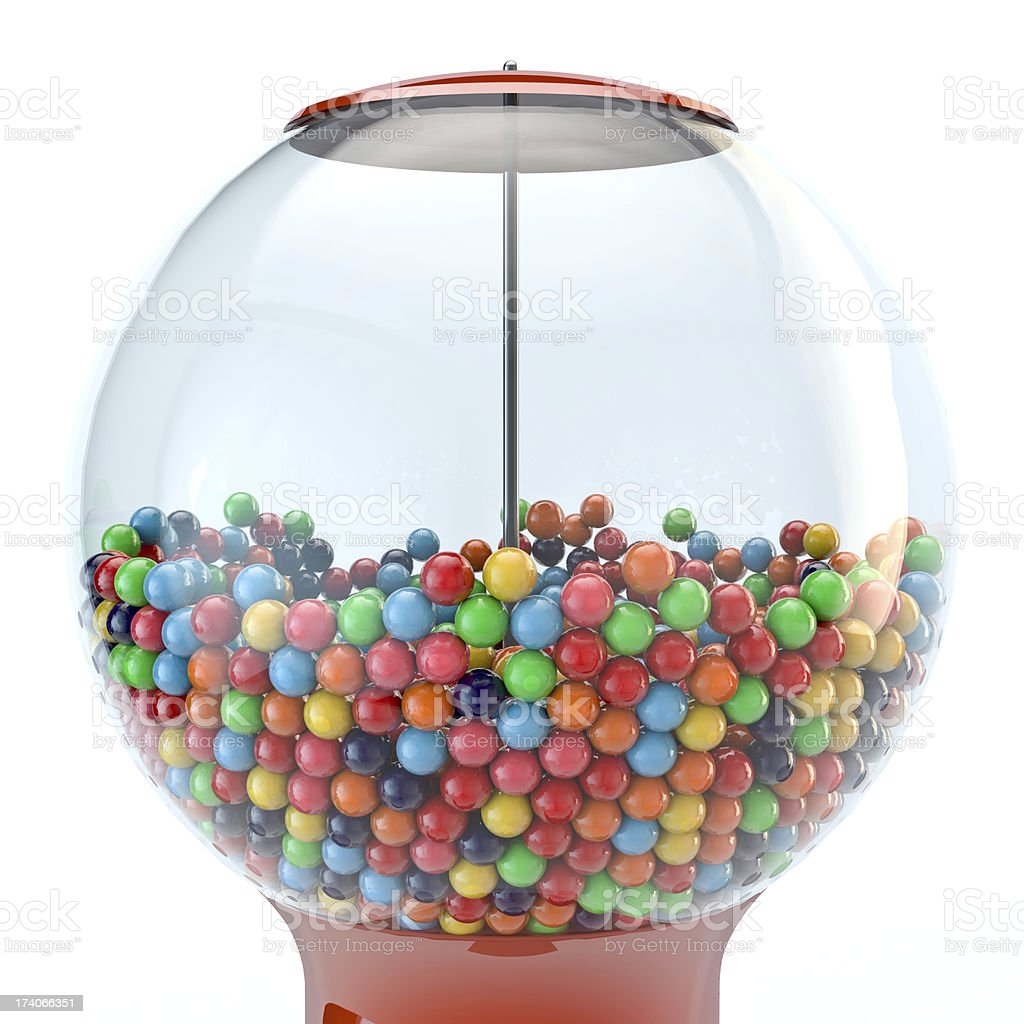 Gumball Machine 3D Render stock photo