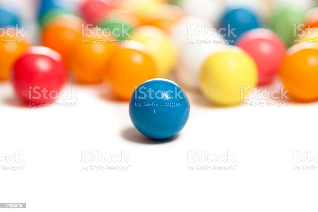 Gumballs on white stock photo