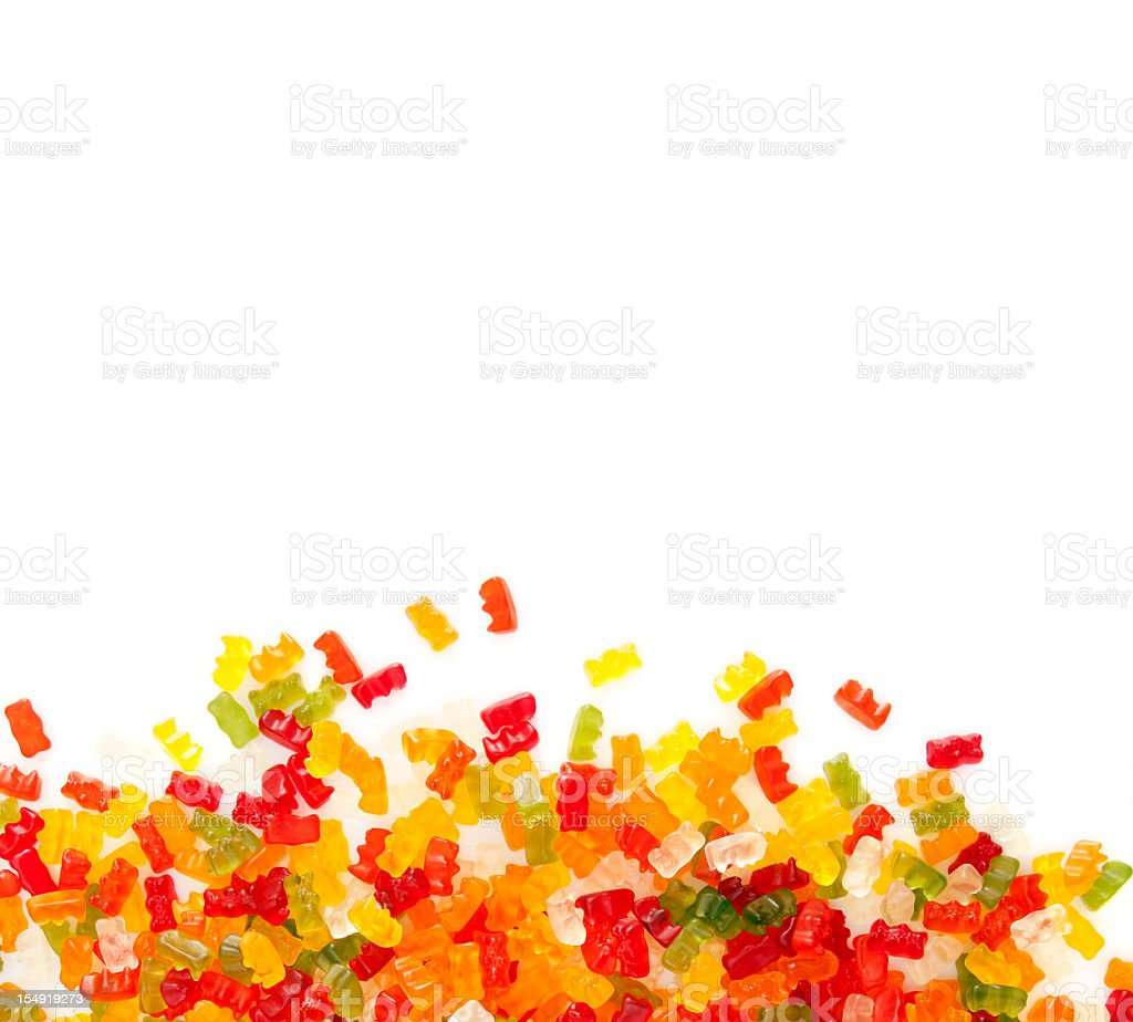 gummibears on white background stock photo