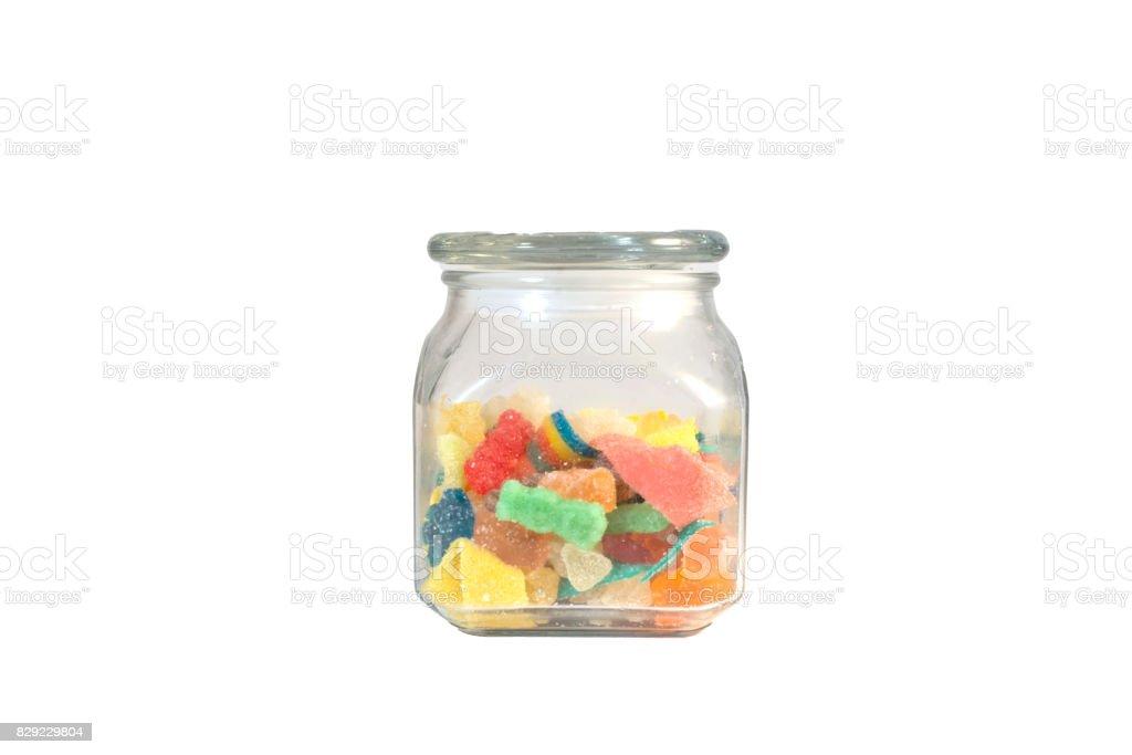 Gummies in bulk in glazen containers foto