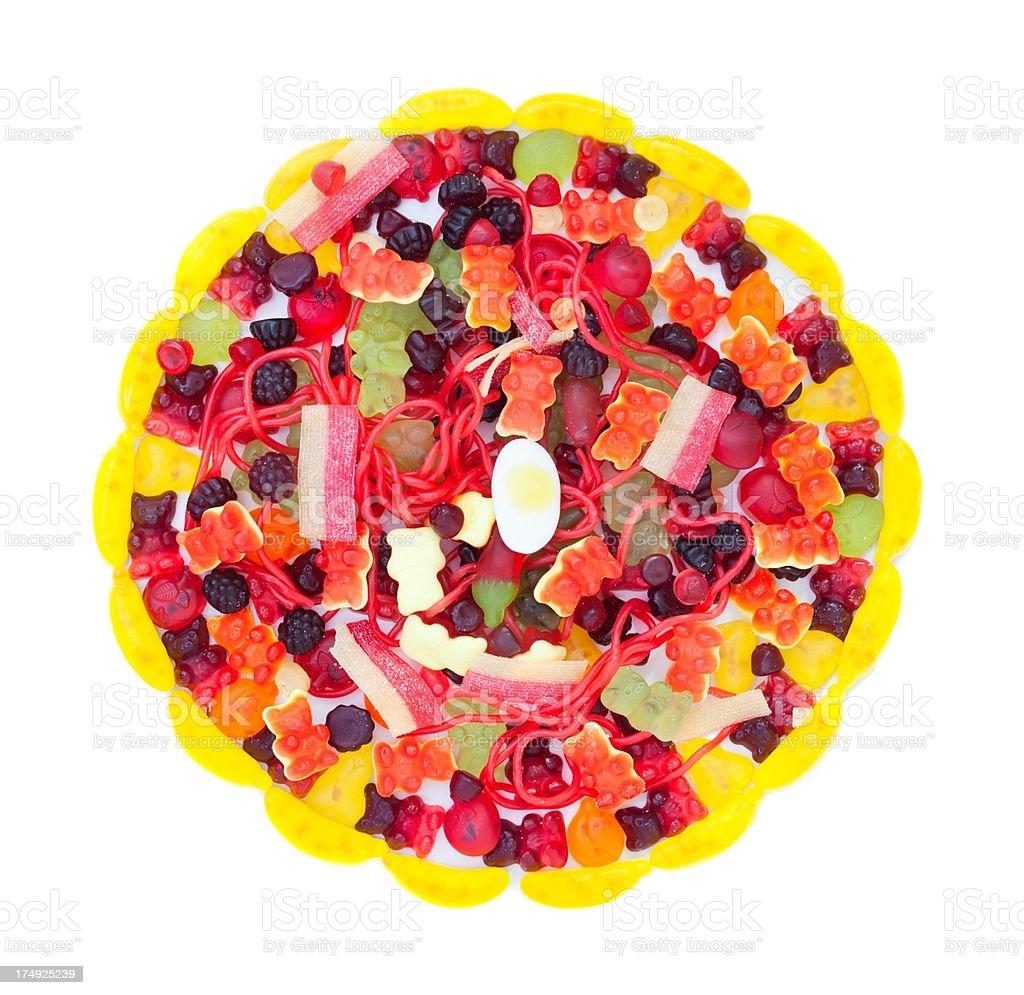 Gummibärchen Pizza Auf Weißem Hintergrund Stock-Fotografie und mehr ...