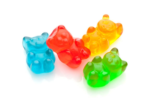 gummy bears candies - candy stock pictures, royalty-free photos & images