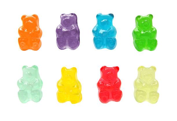 gummy bears - süßigkeit stock-fotos und bilder