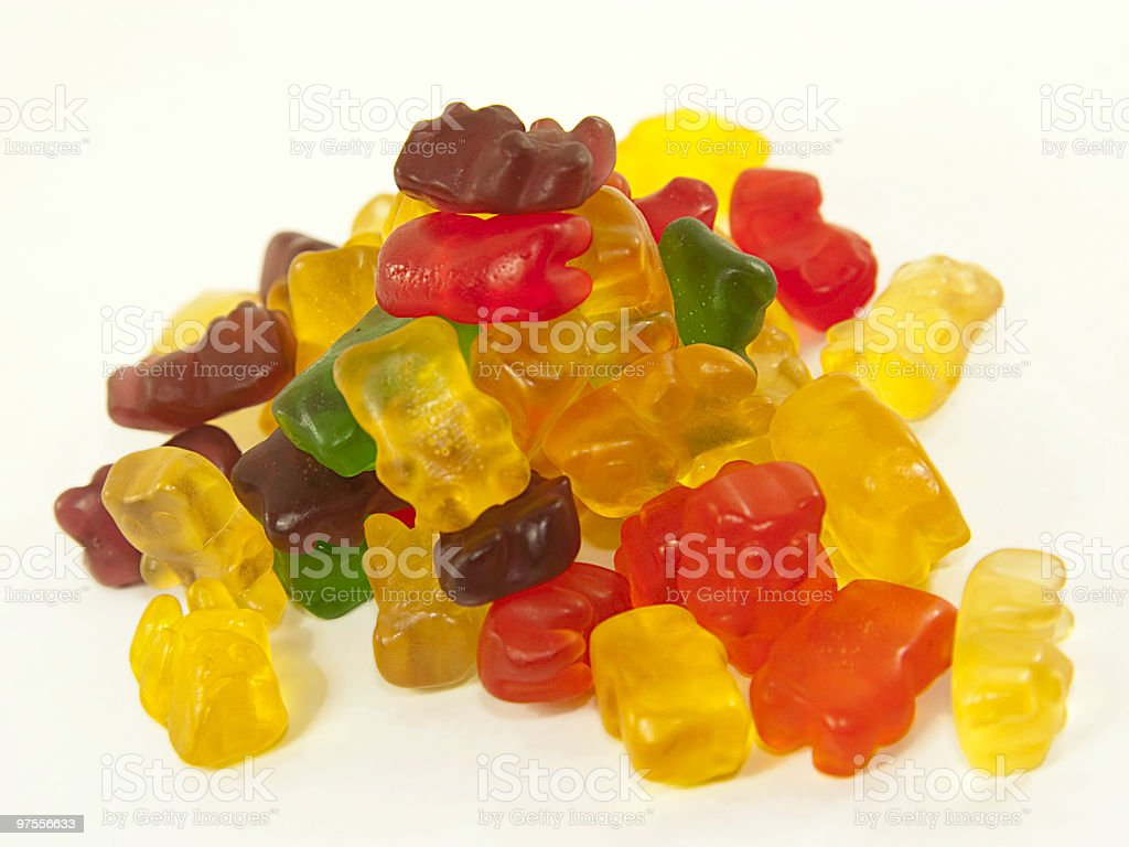 Gummy bears stack royalty-free stock photo