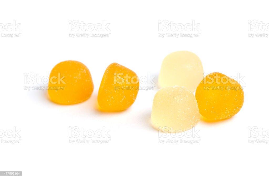 Fruchtgelee-Bonbon auf Weiß – Foto