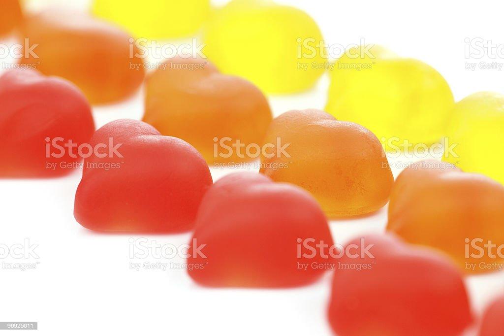 Gummy Hearts royalty-free stock photo