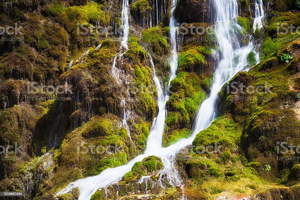 Gumussu Waterfall, Civril, Denizli, Turkey stock photo