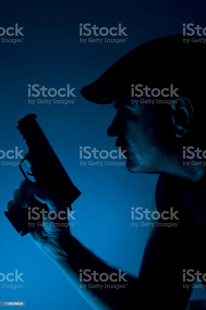 Gun and Gangsters royalty-free stock photo