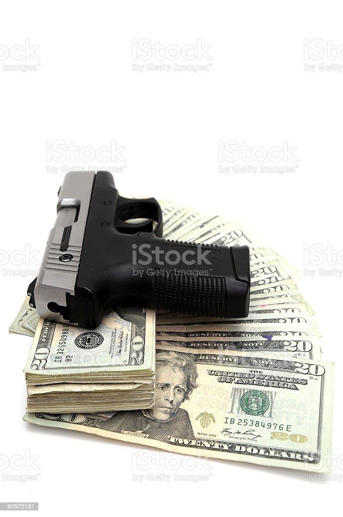 Cartouche et de l'argent photo libre de droits