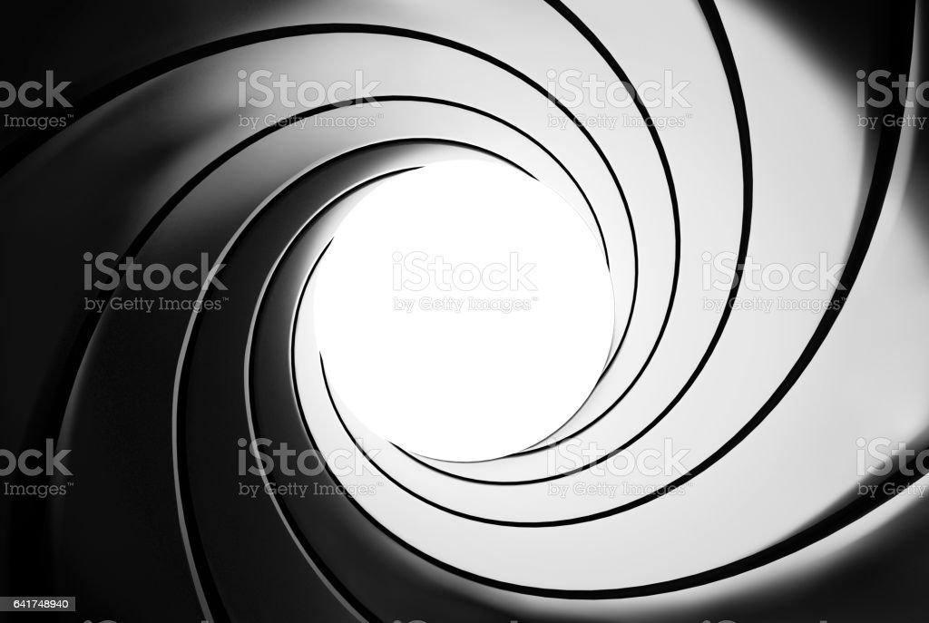Effet de baril de pistolet - illustration 3D - Photo