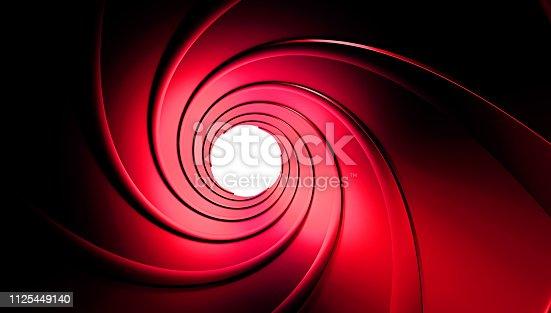 1096211026 istock photo Gun barrel inside 3d rendering 1125449140