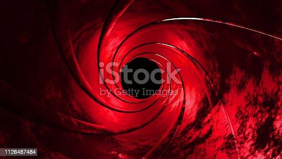 1096211026 istock photo gun barrel inside 3d rendering 1126487484
