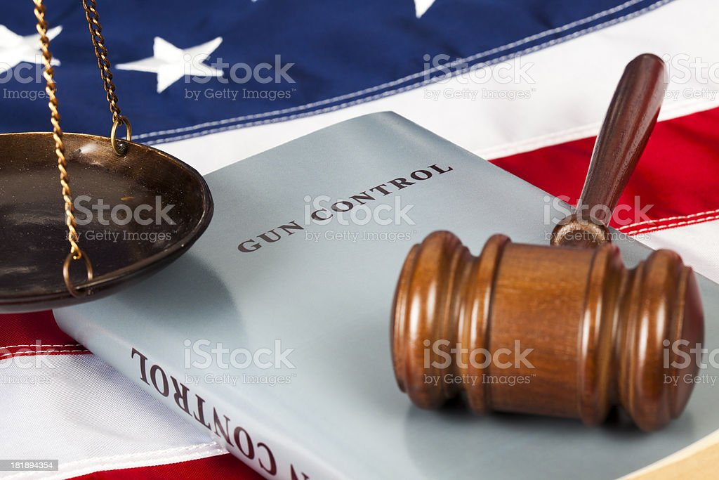 Gun control project royalty-free stock photo