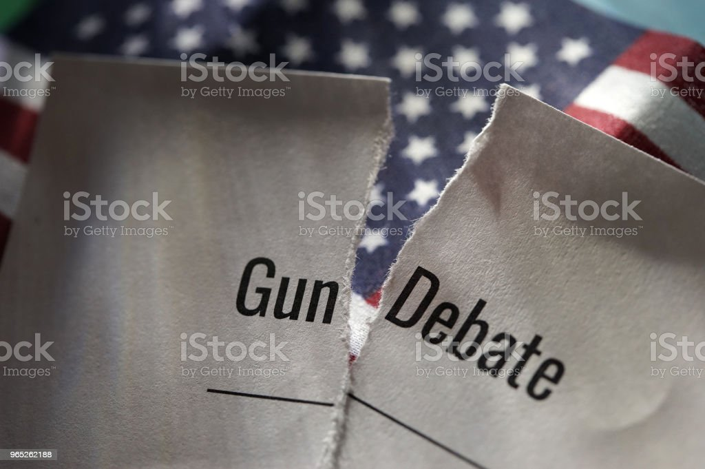 gun debate royalty-free stock photo