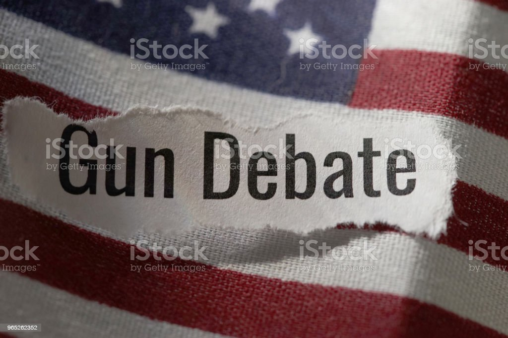 gun debate royalty-free stock photo
