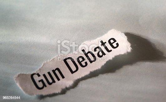 Gun Debate Stock Photo & More Pictures of American Culture