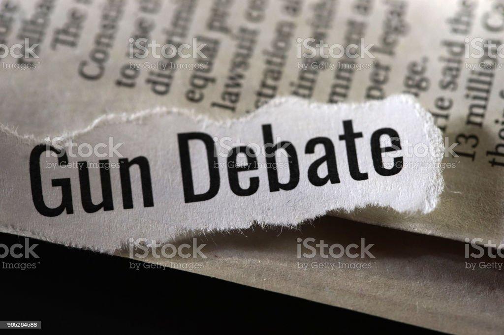 gun debate zbiór zdjęć royalty-free