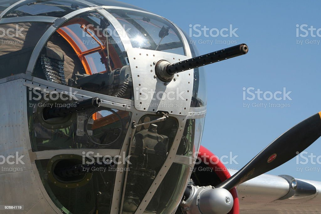 B-25 Gun Detail royalty-free stock photo