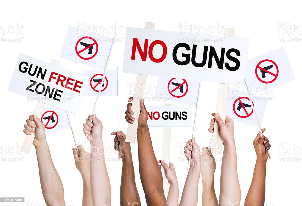 Gun free zone. stock photo