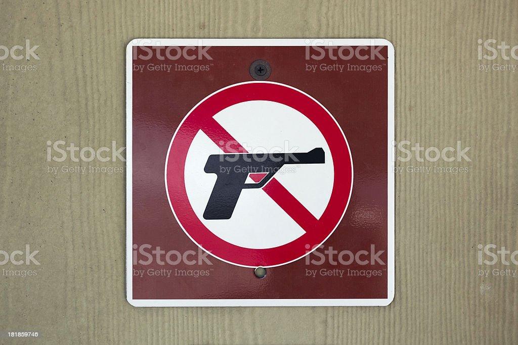 Gun free zone sign stock photo