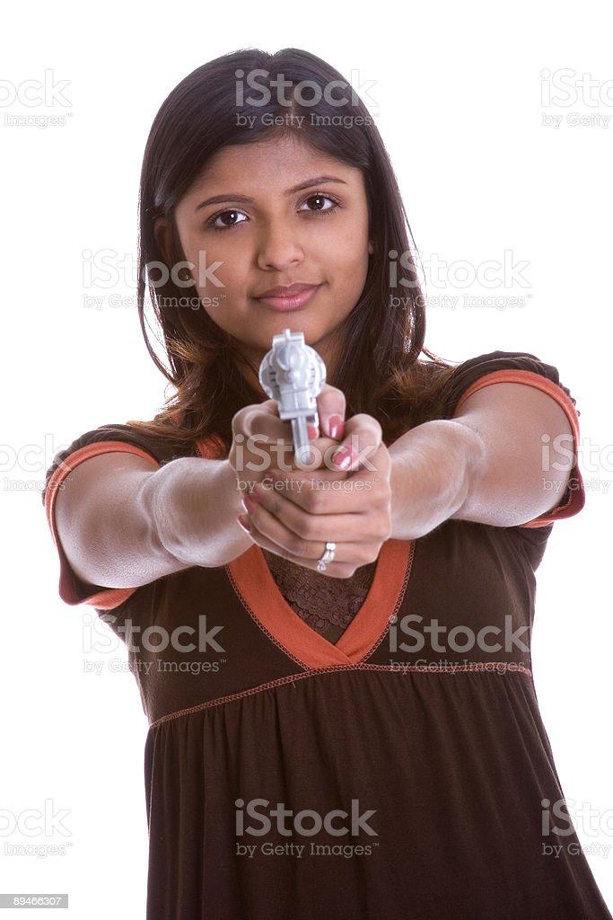 Gun Girl royalty-free stock photo