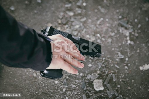 Gun, Human Hand, Pistol, Shooting a Weapon, Weapon