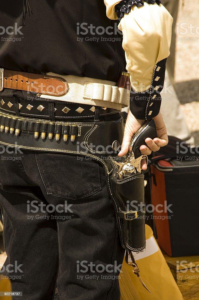 Gun in hand 1 royalty-free stock photo