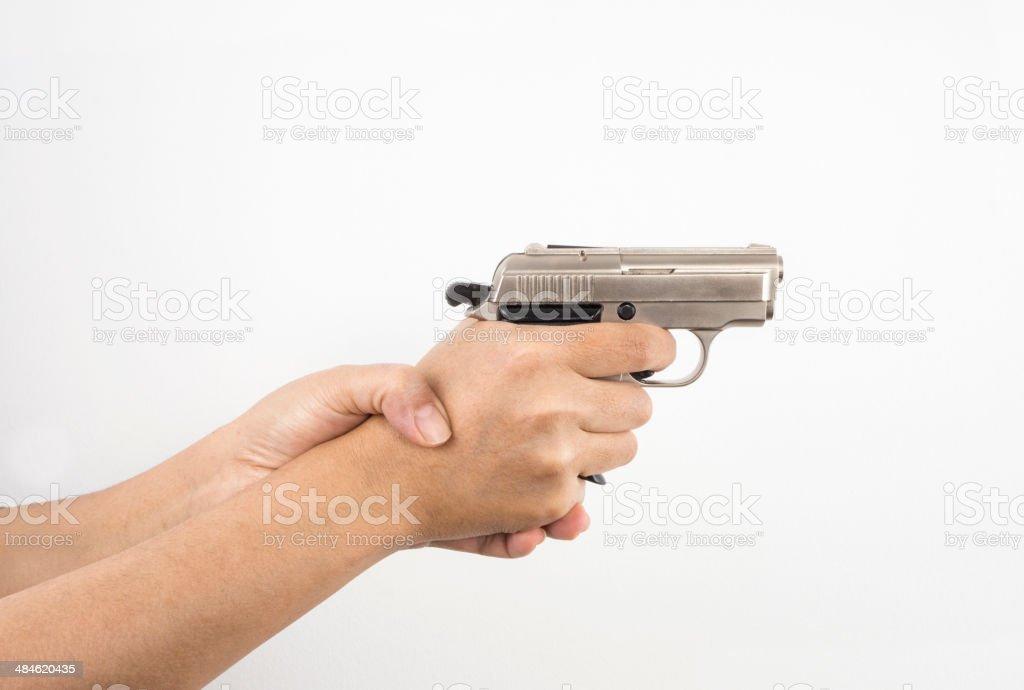 Pistola de manos - foto de stock