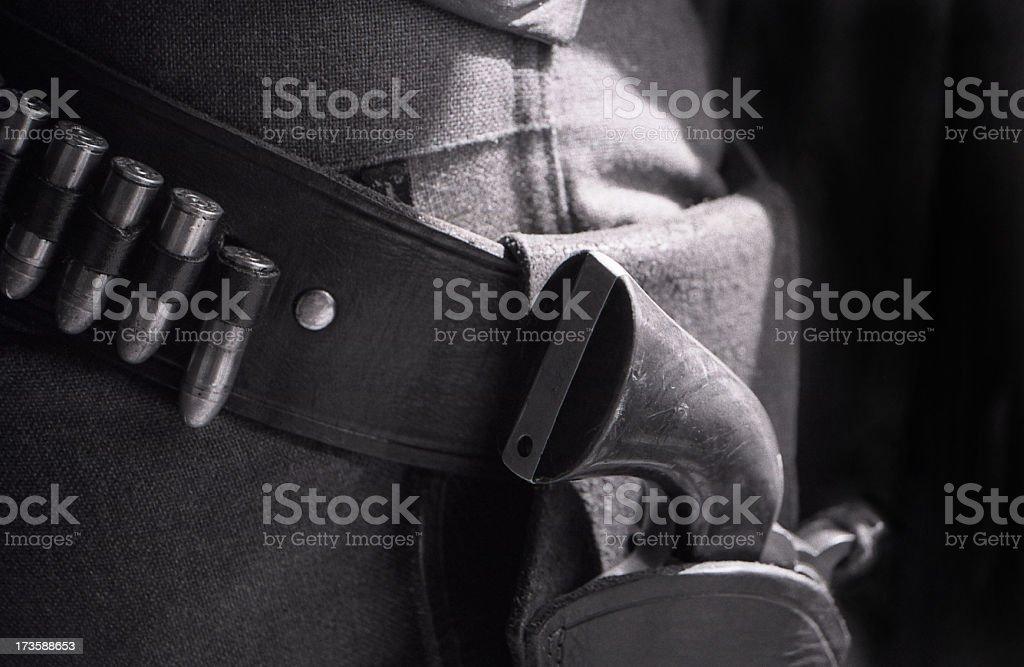 gun in holster royalty-free stock photo