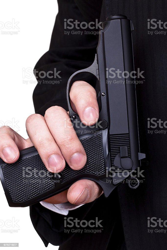 gun in man's hand royalty-free stock photo