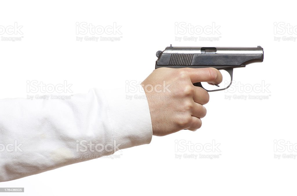 gun in the man's hand royalty-free stock photo