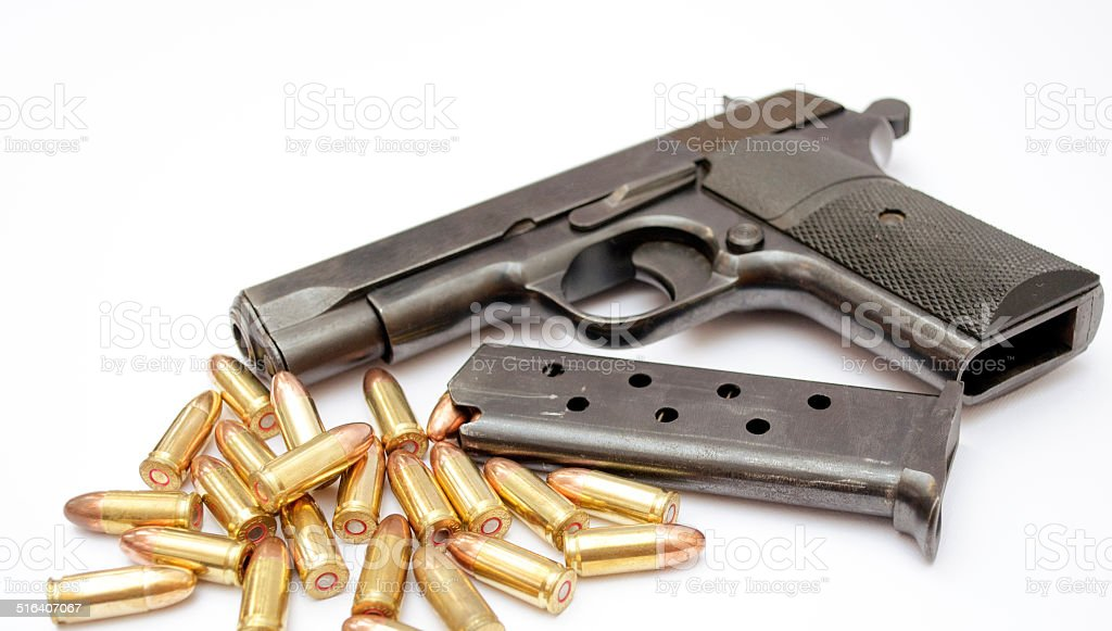 gun isolated on white background stock photo