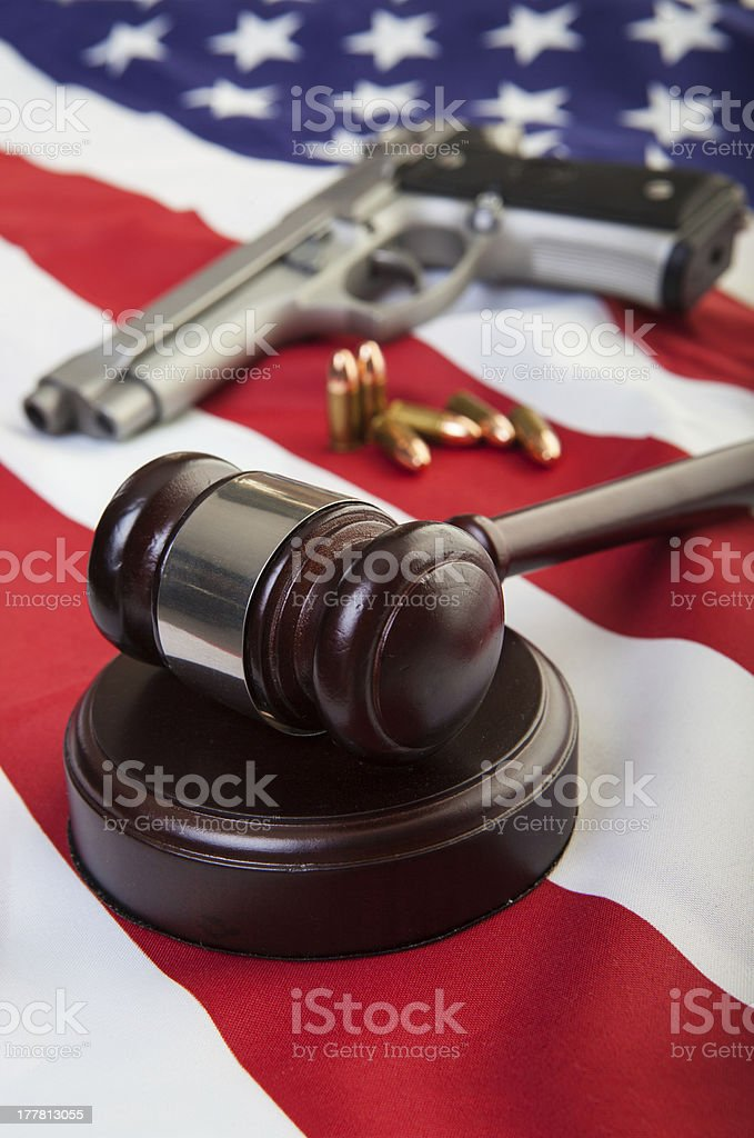 Gun laws royalty-free stock photo