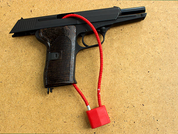 gun lock stock photo