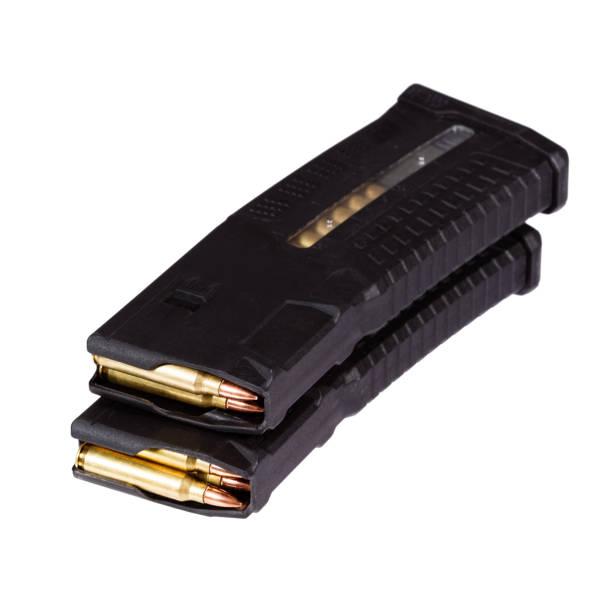 pistole zeitschriften mit kugeln - pferdezeitschrift stock-fotos und bilder