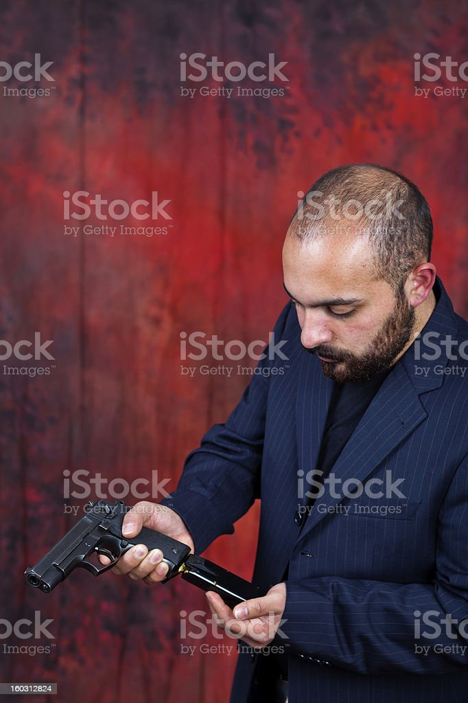 gun man royalty-free stock photo