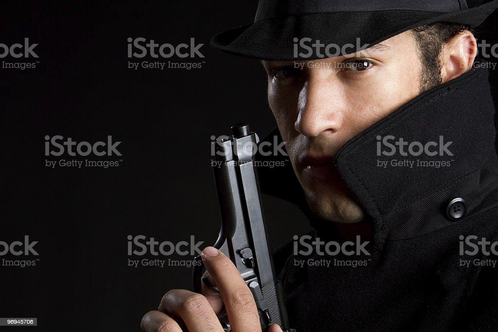 Gun Man royalty-free stock photo