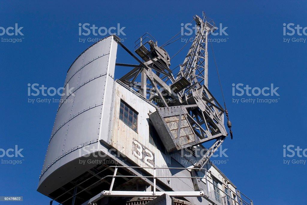 Gun metal gray crane royalty-free stock photo
