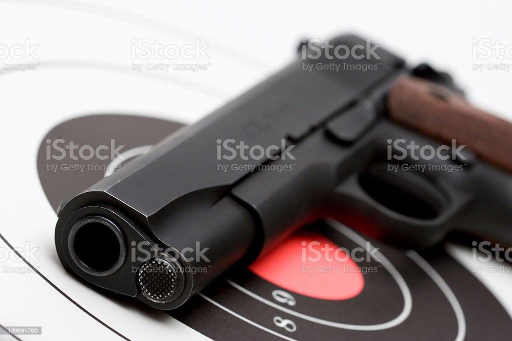 gun over bullseye royalty-free stock photo