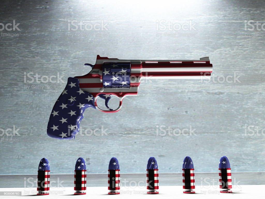 USA Gun stock photo