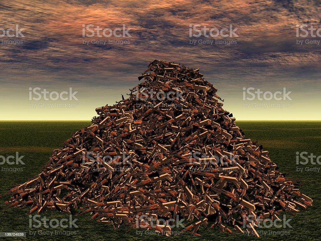 Gun Pile stock photo