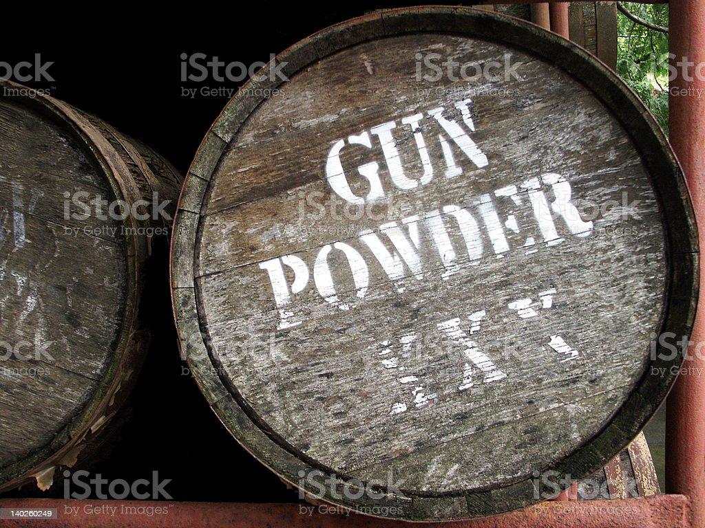 Gun Powder Barrel royalty-free stock photo