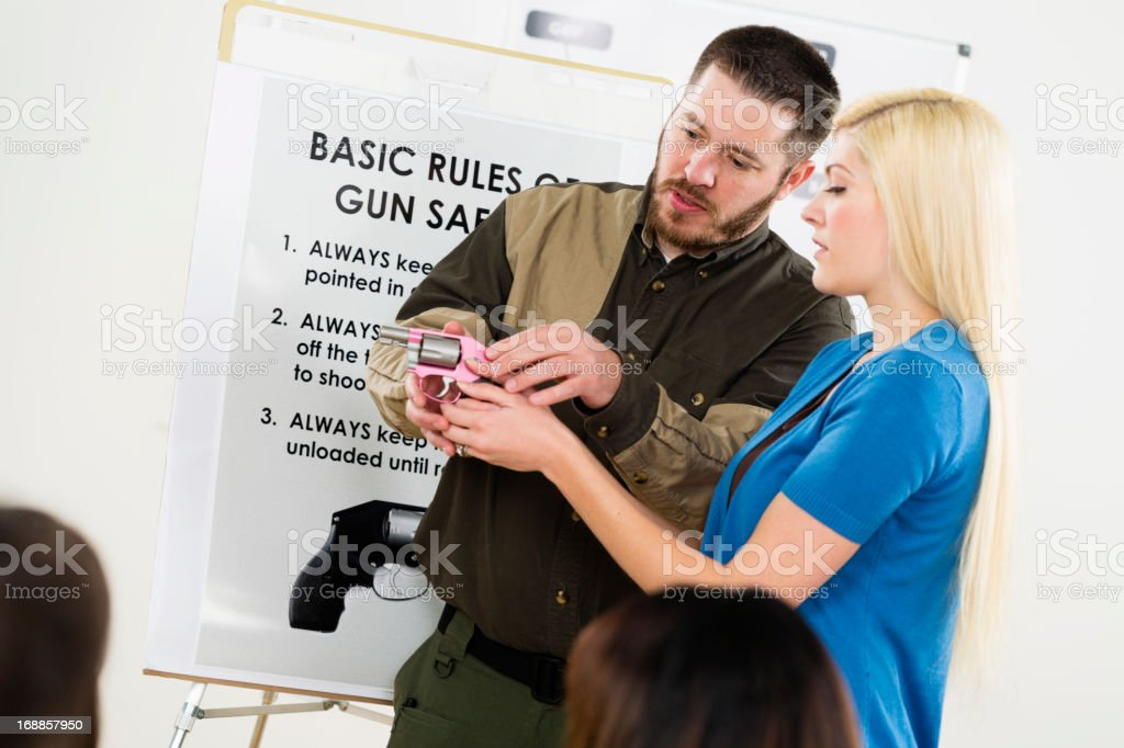 Gun Safety Class stock photo