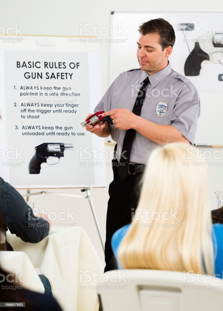 Gun Safety Class royalty-free stock photo