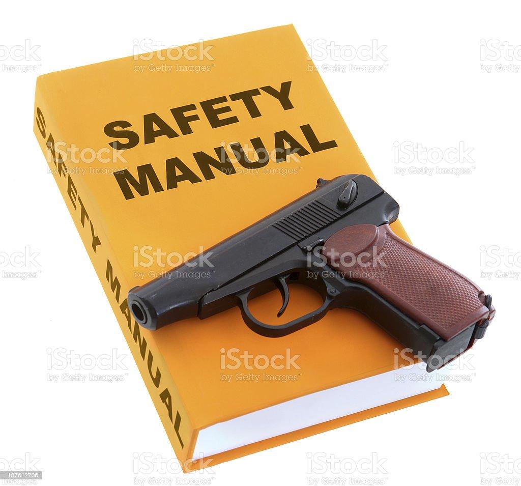 Gun Safety Manual stock photo