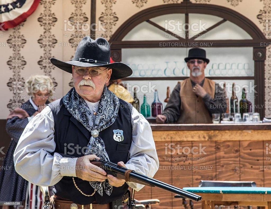 Gun Safety Talk stock photo