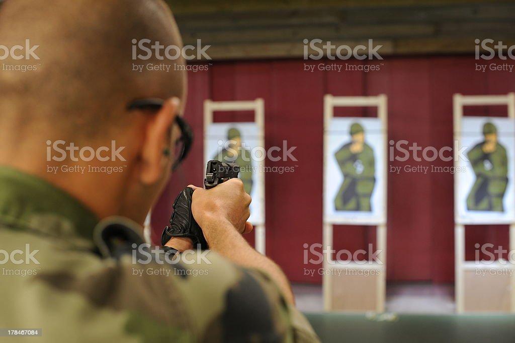 Gun shoot training stock photo